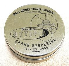 Disneyland Autopia Grand re-opening Pins in a tin set