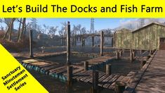 Part of my Sanctuary Minutemen Settlement series Fallout 4 Tips, Fallout Facts, Fallout New Vegas, Fallout 4 Settlement Ideas, Fish Farming, Video Games, Sci Fi, Gaming, Building