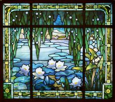 Stained and leaded glass window by Jacques Grüber, 1912.