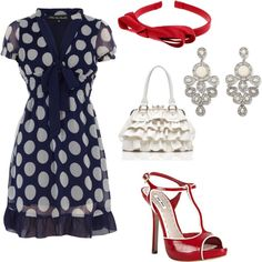 polka dots, ruffles and red... lovely!