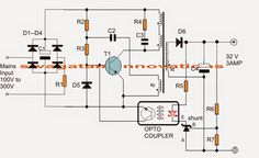 The article shows a 32V, 3 amp SMPS circuit which may be particularly utilized for driving 100 watt LEDmodules, appraised with the same specs. The circuit