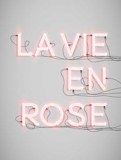 """Néon Alphabet """"La vie en rose"""" print - new collection"""