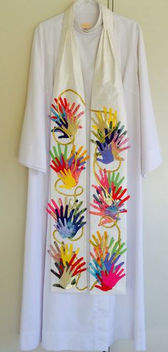 Diversity...No matter what our colour, God loves us all. Great for ordinary time. Silk fabric with batik applique and embroidery