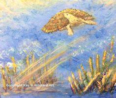 Turtle 6 x 5 acrylic painting