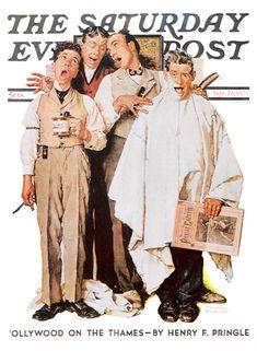 Barbershop Quartet by Norman Rockwell, September 26, 1936