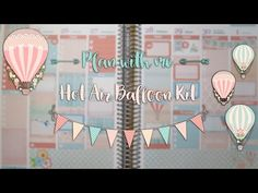 New Release & Plan with me - Hot Air Balloon Kit - YouTube Hot Air Balloon, Balloons, Kit, How To Plan, Videos, Frame, Youtube, Picture Frame, Globes