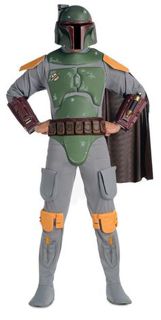 Star Wars Boba Fett Deluxe Adult Costume Description: He's the best bounty hunter in the galaxy! Even Darth Vader said so. This fantastic Star Wars costume includes a very Costume Star Wars, Boba Fett Costume, Leia Costume, Star Wars Jedi, Star Wars Boba Fett, Jango Fett, Star Wars Halloween, Easy Halloween, Movie Costumes