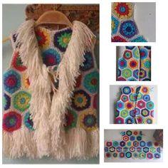Crochet Vests, Crochet Poncho, Crochet Clothes, Baby Jessica, Dream Catcher, Diy And Crafts, Crochet Necklace, Crochet Patterns, Pullover