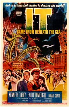 It Came from Beneath the Sea is a 1955 black and white science fiction horror about a giant octopus, made radioactive by hydrogen bomb testing. Description from pinterest.com. I searched for this on bing.com/images
