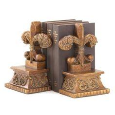 Amazon.com: Gifts & Decor Bronze Color Fleur De Lis Book End Set: Home & Kitchen