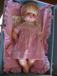 Blonde Vintage Effanbee Baby Doll with Original Suitcase and Clothes
