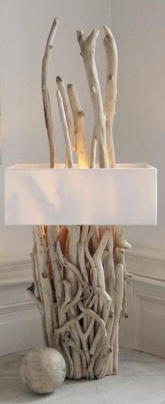 beach design driftwood lamp