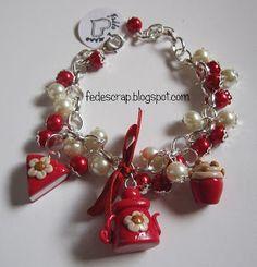 FedeScrap: bijoux  Braccialetti bon-bon rossi