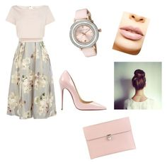 """""""Untitled #14"""" by tamiajeanty on Polyvore featuring beauty, Coast, Christian Louboutin, Ted Baker, LASplash and Alexander McQueen"""