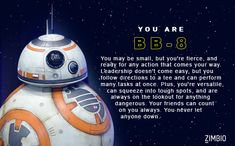 I took Zimbio's 'Star Wars: The Force Awakens' character quiz and I got BB-8. Who are you? - Quiz