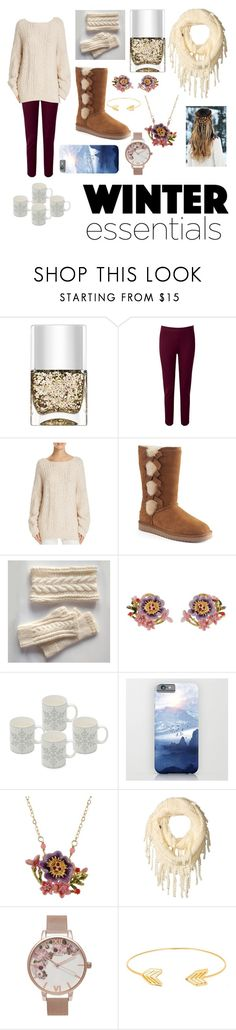 """Winter"" by savagecabbage86 on Polyvore featuring Nails Inc., Pure Collection, Vince, Koolaburra, Les Néréides, prAna, Olivia Burton and Lord & Taylor"
