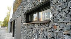 GABION Baskets - rocks in wire baskets - building cladding and veneer