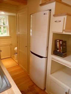 Refrigerator Under Stairs - Ynez by Oregon Cottage Company