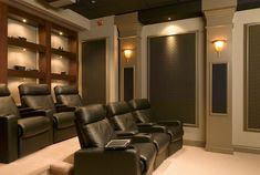 Private Theater With Sconces Lighting #homeautomationideas #hometheaterdecor #homeautomationlighting