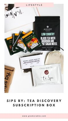 Surprisingly awesome tea subscription box where everything is customized for you. Pretty neat, right? #sipsby #tealovers Tea Subscription Box, Oat Straw, Burnt Sugar, Jasmine Green Tea, Buy Tea, Tea Blends, Loose Leaf Tea, Stevia, The Balm