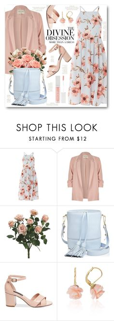 """""""Sun Dress & Blazer"""" by brendariley-1 ❤ liked on Polyvore featuring Love, River Island, Milly, Vera Wang, Love Is and Forever 21"""