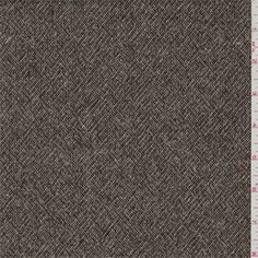 Caramel brown and dark brown with flecks of gold and brick red. A light to mid weightsuiting fabric with a faint texturedherringbone weave. Soft hand, wool imported from Japan. Ideal for lined suits and slacks.Compare to $25.00/yd