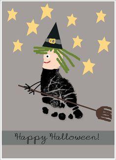 Halloween footprint card
