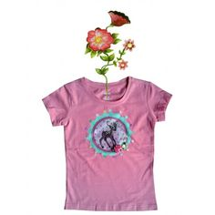 T-shirtje roze met Bambi in gehaakt kransje. Mooi bewerkt met pailletjes en bloemen. Maat 98/104. Afwijkende kleuren en maten op aanvraag. Mail ons voor meer informatie info@bygek.com