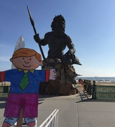 Flat Stanly and King Neptune at Virginia Beach.