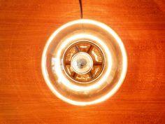 Smoked glass table lamp, 2 available. - NOVAC Vintage