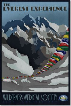 Image result for vintage mount everest poster