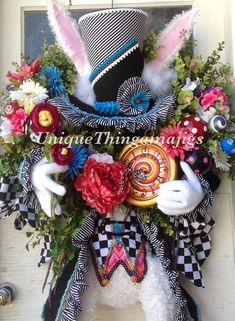 Ready To Ship Now Mad Hatter Rabbit Easter by UniqueThingamajigs