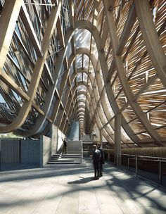 """Conceived as a timber structure that references the """"raised-beam"""" system found in traditional Chinese architecture, the roof of the China Pavilion at Expo Milano 2015 uses modern technology to create long spans appropriate to the building's public nature."""
