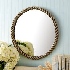Sailor's Knot Silver Rope Design Wall Mirror - mirrors