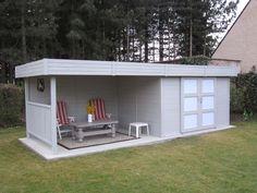 """Abri jardin bois """"Arhus"""" - 19.90 m² - 7 x 2.84 x 1.85 m - 28 mm 66880"""