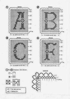 Ponto Preso1: Alfabeto em Croche