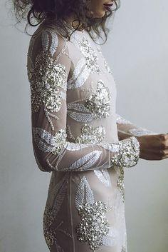 Backstage /NY Bridal Week Fall 2017 / Photo: The LANE Stunning wedding dress with glitter! Inspiration Mode, Wedding Inspiration, Wedding Bride, Wedding Gowns, Boho Bride, Chic Wedding, Perfect Wedding, Naeem Khan Bridal, Mode Glamour