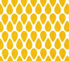 ORGANIC Fitted Changing Pad Cover for Contour Pad - Changing Pad  / Tear Drops / Yellow