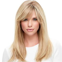 Lea - HUMAN HAIR COLLECTION by Jon Renau Powerful, elegant and versatile, this long style is a natural knockout. Hand-tied with a monofilament cap, the remy human hair is heat-stylable in any direction.