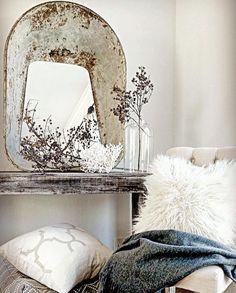 Wheelbarrow Mirror