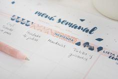 Imprimible para planificar el menú semanal y la lista de la compra