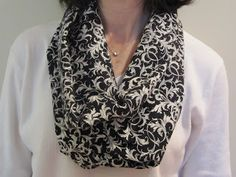 endless scarf from 1 yd. fabric - cotton or fashion