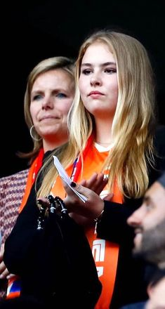 Dutch RF: Princesses Amalia and Ariane at the final match of Women's Football World Cup in France Dutch Princess, Princess Estelle, Princess Charlotte, Monaco Royal Family, Danish Royal Family, Danish Royals, Swedish Royals, Prince Felix, Royal Tiaras