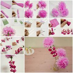 Hogyan készítsünk szép krepp-papír virág és csokoládé hüvelykujj