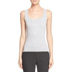Women's Michael Kors Cashmere Shell Streetwear Brands, Basic Tank Top, Cashmere, Luxury Fashion, Shell, Michael Kors, Tank Tops, Shopping, Cashmere Wool