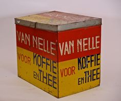 LARGE DUTCH VAN NELLE COFFEE TIN BY JACQUES JONGERT | Rotterdam, The Netherlands | 1930 | @catawiki online auctions