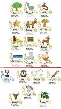 12 tribes of israel children's activities | Twelve Tribes 1 - Ribbon
