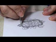 Fun with Dingbatz Zentangle technique - Artzyfartzy 👩🏻🎨 - YouTube