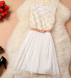 Embroidery Fashion Sleeveless Dress