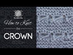 The Crown Stitch :: Knitting Stitch #185 :: New Stitch A Day